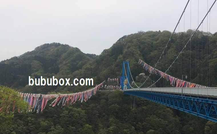 竜神大吊橋 鯉のぼり